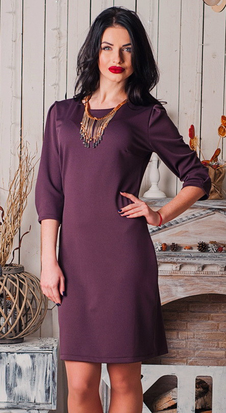 синее женское платье из рельефного трикотажа, женское модное деловое платье