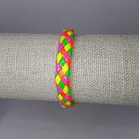 Браслет на руку кожаный яркий разноцветный