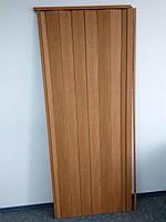 Двері гармошка глуха вишня 501 1000*2030*6 мм