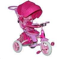 """Велосипед трехколесный Azimut T-500 """"AL"""" TRANSFORME Розовый"""