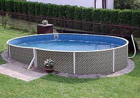 Овальный сборной бассейн Azuro Ratan 5.5х3.7 м, глубина 1.2 м, песочная фильтрационная станция