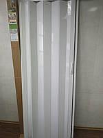 Дверь гармошка раздвижная глухая белый ясень №1, 810*2030*6мм