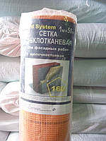 Фасадная сетка плотность 160 г/м2 5х5мм 50 кв.м с доставкой по Украине