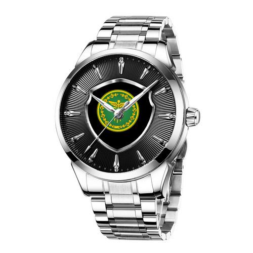 Часы наручные мужские Chronte с логотипом Налоговая Служба Silver-Black