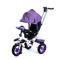 Велосипед Baby Trike 3-х колёсный 6595 Фиолетовый с ключем зажигания