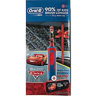 Детская электрическая зубная щетка Oral-B D12. 513 Stages Power (для мальчика), Тачки с чехлом