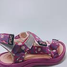 Детские спортивные сандалии девочкам, розовые босоножки на липучках, фото 7