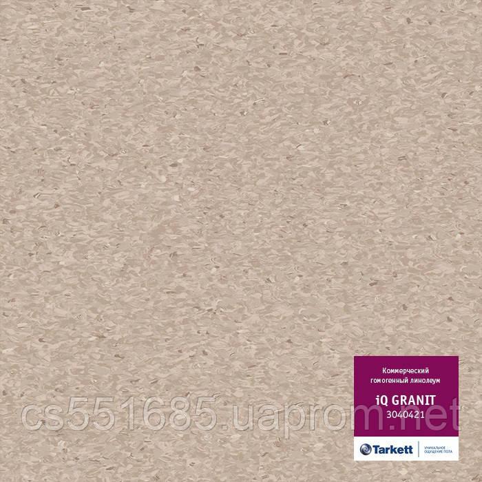 3040421 - коммерческий линолеум гомогенный 34 класс, коллекция IQ Granit (Гранит) Tarkett (Таркетт)