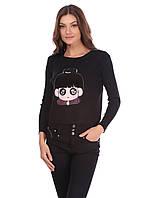 Женская теплая кофта черного цвета , фото 1