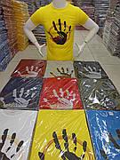 Мужская футболка с принтом качество хлопок с лайкрой разные цвета Турция