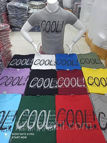 Мужская молодежная футболка с принтом качество хлопок с лайкрой разные цвета Турция, фото 2
