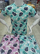 Мужская футболка молодежная с принтом качество хлопок с лайкрой разные цвета Турция