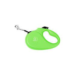 Поводок-рулетка COLLAR для собак до 15 кг, розмір S, 5 метрів, Чорний зелений