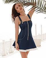 Джинсовый сарафан , красивый женский сарафан, молодежный летний сарафан синий,на молнии