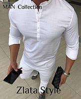 Чоловіча стильна сорочка на гудзиках, фото 1