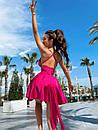 Жіноче Літнє Плаття з шовку з відкритою спиною Рожеве S, фото 2