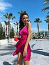 Жіноче Літнє Плаття з шовку з відкритою спиною Рожеве S, фото 3