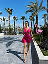 Жіноче Літнє Плаття з шовку з відкритою спиною Рожеве S, фото 4