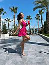 Жіноче Літнє Плаття з шовку з відкритою спиною Рожеве S, фото 5