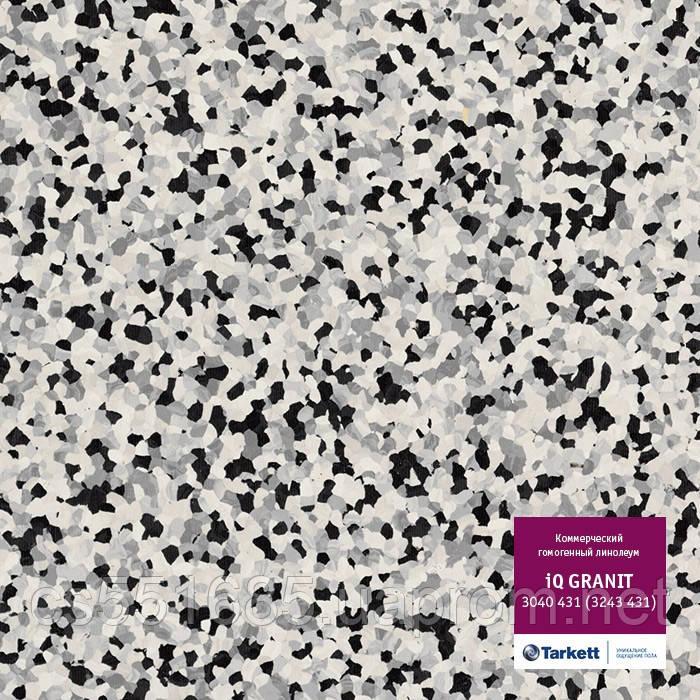 3040431 - коммерческий линолеум гомогенный 34 класс, коллекция IQ Granit (Гранит) Tarkett (Таркетт)
