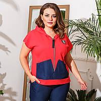 Жіночий костюм стильний двійка,Штани +!кофта, Матеріал: тонкий джинс, віскоза(48-58), фото 1