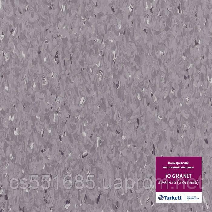 3040436 - коммерческий линолеум гомогенный 34 класс, коллекция IQ Granit (Гранит) Tarkett (Таркетт)