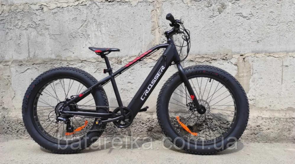 "Мощный Электро велосипед Crosser E-Fat Bike AL 26"" 350W (8S) 36V/13A"
