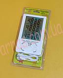 Термометр-гигрометр TA298 цифровой c выносным датчиком, фото 3