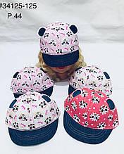 Кепка для девочки на лето панда р. 44