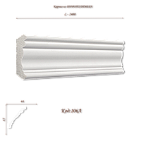 106А Карниз декоративный из дюрополимера