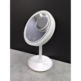 Дзеркало косметичне Beauty Breeze Mirror із збільшенням підсвічуванням і вентилятором 02265