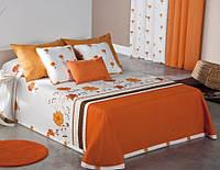 Испанское покрывало двустороннее 250х270 Canete Sofy 60 naranja