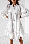 Женское платье, супер - софт, р-р универсальный 42-46 (белый), фото 3