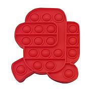 Опт Pop It Антистресс Игрушка - (Поп Ит - Попит - Popit) - Красный Амонг Ас Бегущий