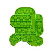 Опт Pop It Антистресс Игрушка - (Поп Ит - Попит - Popit) - Зеленый Амонг Ас Бегущий
