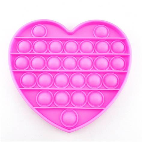 Опт Pop It Антистресс Игрушка - (Поп Ит - Попит - Popit) - Розовое Сердце, фото 2