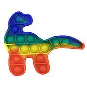 Опт Pop It Антистресс Игрушка - (Поп Ит - Попит - Popit) - Радужный Динозавр