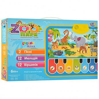 Детский игровой-развивающий Коврик M 3676  на укр. и англ. языке