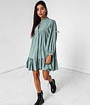 Женское платье, супер - софт, р-р универсальный 42-46 (оливковый), фото 2