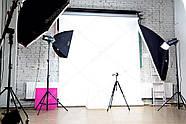 2.5/2.75 G*5м Фотофон білий вініловий для потолочно-настінних кріплень Super Matt VINIL BD-PRO White, фото 6