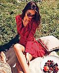 Женское платье, супер - софт, р-р универсальный 42-46 (красный), фото 3