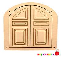 Заготовка для Бизиборда Большая Двойная Дверка 19х17 см (Без Комплекта) Деревянная Дверца Дверь