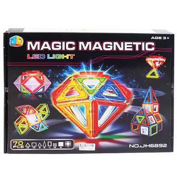 Детский магнитный конструктор JH6892, 70 деталей