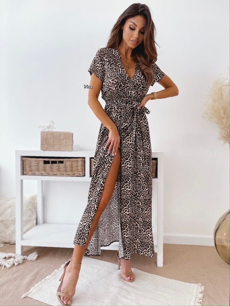 Женское платье, супер - софт, р-р С-М; Л-ХЛ (леопардовый)