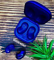 Беспроводные сенсорные наушники вкладыши Самсунг Galaxy Buds Live (1:1) синие