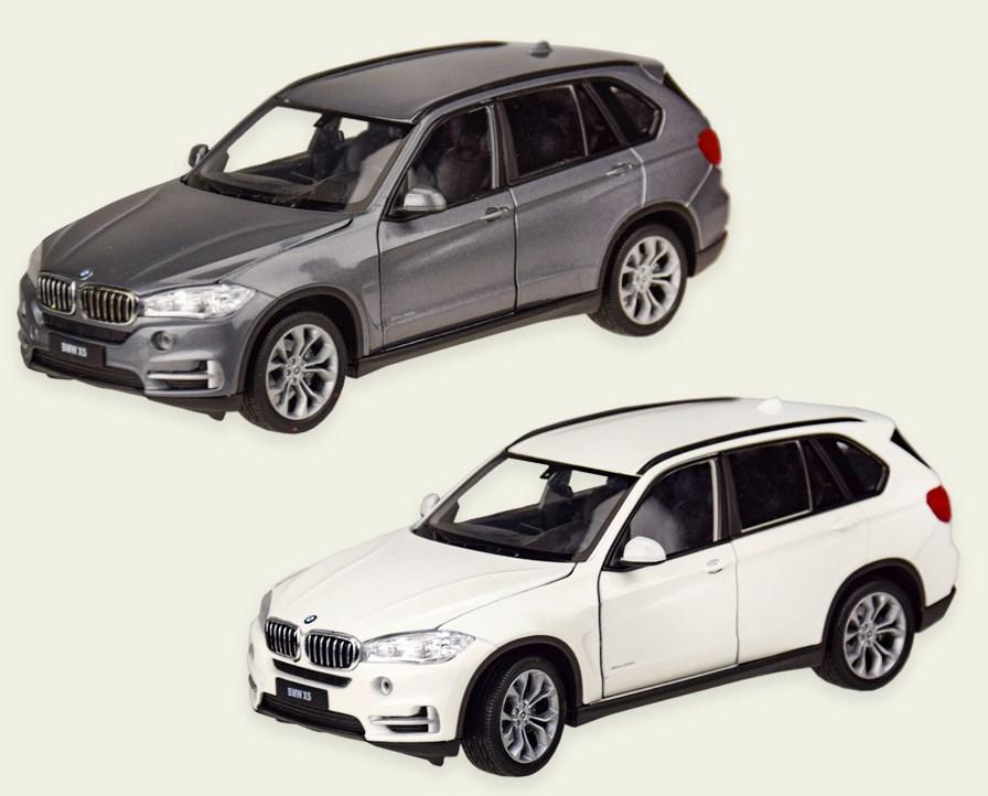 Колекційна модель БМВ х5 (BMW X5) металева машинка, 1:24, (білий, сірий), WELLY