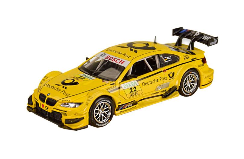 Колекційна модель БМВ М3 ДТМ (BMW M3 DTM) металева машинка, 1:32, (жовта) Автопром