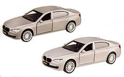 Колекційна модель БМВ 760 (BMW 760LI) металева машинка, 1:46,(білий,чорний), Автопром