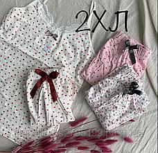 Комплект женский майка и шорты для сна и дома. Турция. Хлопок, фото 3
