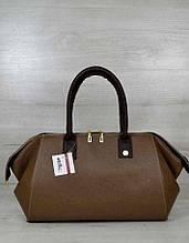 Классическая женская сумка Aliri-319-02 кофейного цвета